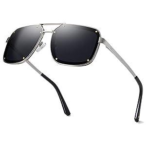 Vanlinker Square Aviator Sunglasses Sunglasses for Men Square Shades UV400 VL9523B ACTION