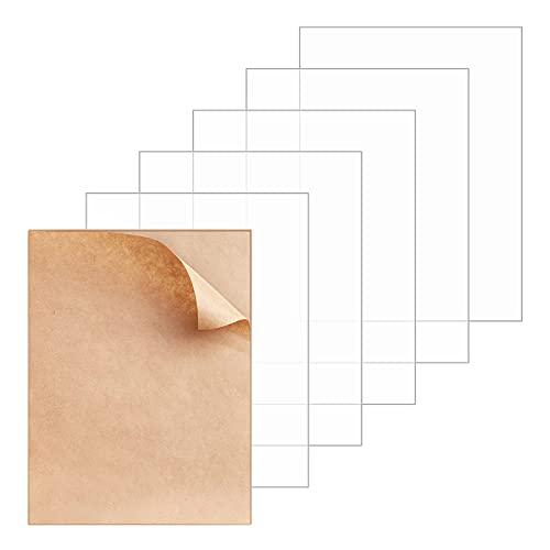 Comius Sharp Acrílico Transparente Hojas, 6 Piezas de Panel de Acrílico de Protectoras Transparentes, Hojas de Plexiglás para Pintura Caligrafía Muestras Tabla Vidrio Marco