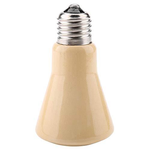 Multifunctionele verwarmingslamp van keramiek, solide, warmtestraler, infrarood, broodcoop, gloeilampen voor warmte, scattering, accessoires voor terrarium, verwarming, lampen, voor reptielen, springlaarzen 220-240 V, 50W Yellow