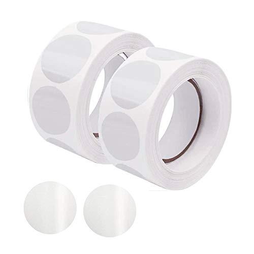 SIYI-XIU 1000Pcs Adesivi Rotondi Trasparenti 25mm Rotondo Busta Adesivi Etichette Circolari Chiare per Imballaggio al Dettaglio Adesivi Rotonde di Busta,Trasparente