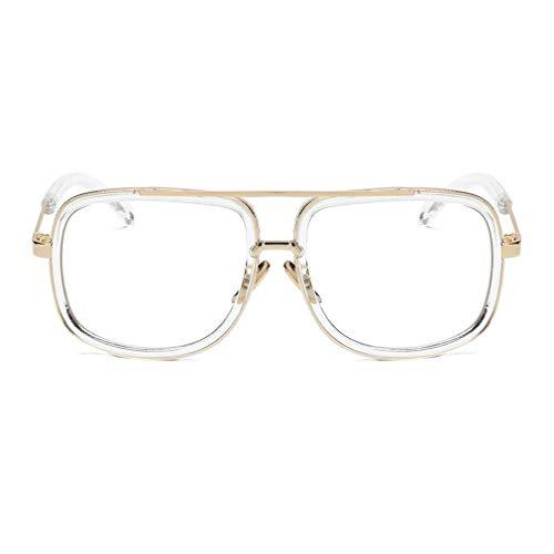 Nsdsb Hombres Mujeres Gafas De Sol Estilo Punk Marco Grande UV Proteger Gafas De Conducción Gafas Transparentes