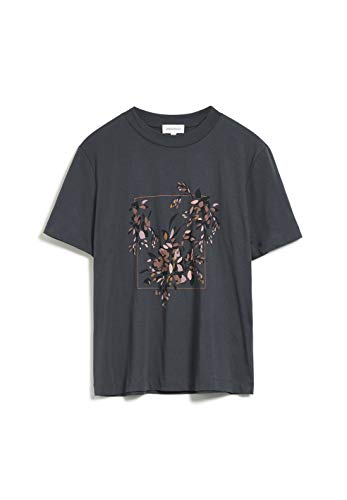 ARMEDANGELS MIAA FLORAL Frame - Damen T-Shirt aus Bio-Baumwolle L Acid Black Shirts T-Shirt Loose fit
