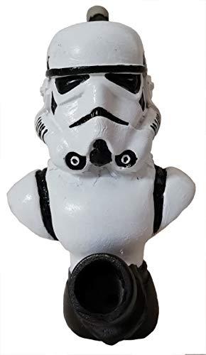 Collectible Handmade Decorative Figurine Storm Trooper Tobacco Pipe (Half Body)