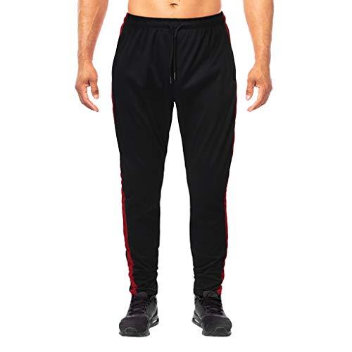 Xmiral Hosen Herren Jogginghose Sporthose mit Tunnelzug für Männer Hosen Elastizität Gerade Strecken Jeans Slim Fit Training Hose(a Schwarz,XXL)