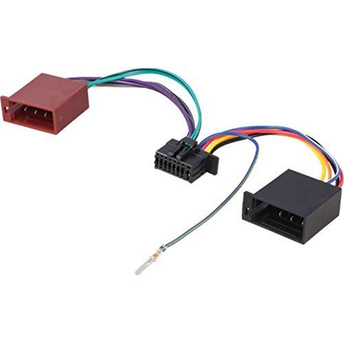 Sound-way Cable Adaptador ISO compatible con Kewnood JVC Radio de Coche (modelos a partir de 2017) 16 Pin