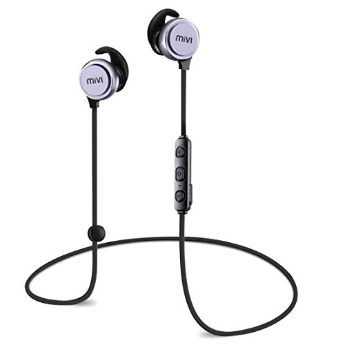Mivi Thunder Beats Wireless Bluetooth Earphones with Stereo Sound and Hands-Free Mic (Gun Metal)