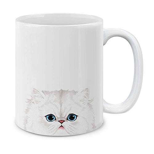 N\A Blancanieves Gato Persa Taza de cerámica Teaea Copa,