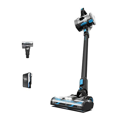 Vax 1-1-142312 ONEPWR Blade 4 Pet Cordless Vacuum Cleaner with Motorised Pet Tool – CLSV-B4KP, Graphite/Cyan Blue