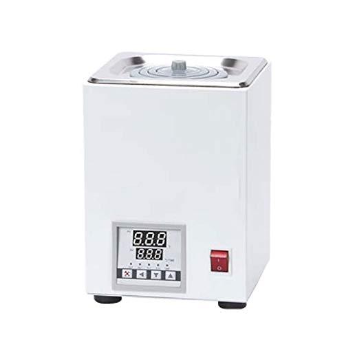 NBXLHAO Digitales thermostatisches Wasserbad Labor Wasserbad, 500 W, 2,5 L, 220 V, 50 Hz, RT bis 100 ° C, mit wählbaren Öffnungen und Zeitsteuerung, Inkremente von 0,1 ° C.