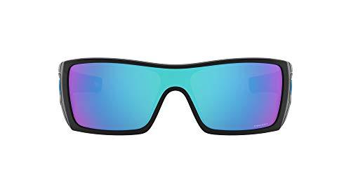 Oakley Herren Batwolf 910158 Sonnenbrille, Mehrfarbig (Polished Black), 127