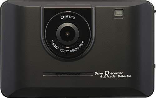 コムテック ドライブレコーダー + レーダー探知機 一体型 CB-R02 200万画素 Full HD ノイズ対策済 夜間画像補正 LED信号対応 専用microSD(16GB)付 1年保証 Gセンサー GPS データ更新無料 COMTEC
