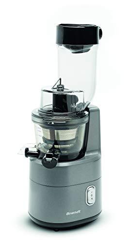 Brandt SLJ300 - Extracteur de Jus et Légumes - Slow Juicer - Extraction Lente - Fonction Reverse - 45 tours/minute - 200W - 3 filtres - 1 Litre - Gris
