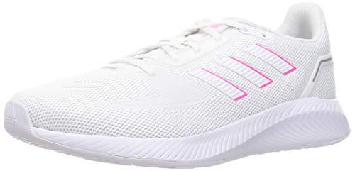 adidas Runfalcon 2.0, Road Running Shoe Mujer, Cloud White/Cloud White/Screaming Pink, 37 1/3 EU
