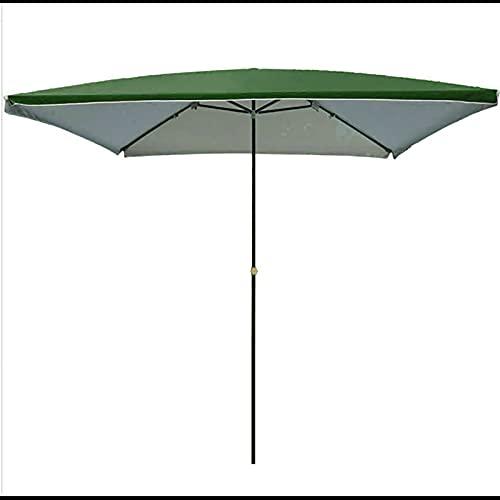SDFGO Parasol |Canopy Al Aire Libre |Paraguas De Jardín De Sombreado De Sol Cuadrado para Balcones Y Patios |Altura Ajustable |2x2m 2.5 * 2.5m Gazebo De Jardín(Size:2.5 * 2.5m,Color:Verde)