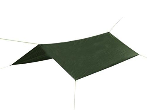 BE-X SilNylon Universal Tarp -Wilderness-, 200x250cm, Ripstop Nylon, beschichtet - Olive