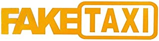 C199 Fake Taxi Fake Taxi Drift Sign Funny Car Stickers Easy to Install Kinggarten-SG
