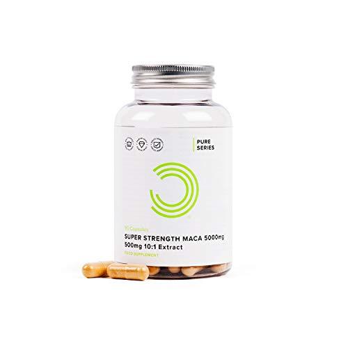 BULK POWDERS Extra Starke Maca Kapseln, 5000 mg, 90 Kapseln