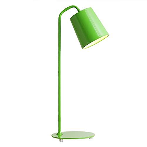 Lámpara de escritorio dormitorio Simple American Iron Table Lámpara Nordic Moderno Lectura LED de trabajo Lámpara de mesa Oficina Estudio Escritorio Lámpara de escritorio Botón Interruptor Lámpara de