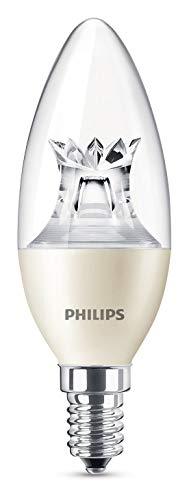Philips LED Lampe WarmGlow ersetzt 40 W, E14, warmweiß (2700 Kelvin), 470 Lumen, klar, Dimmbar, 8718696453483