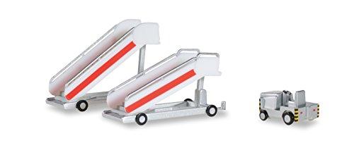 Herpa 551809 Wings - Escaleras históricos de pasajeros con Tractores (2X)