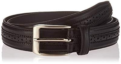 Florsheim Men's Boselli 33MM Dress Casual Leather Belt, black, 34