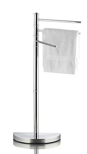 Ribelli Handtuchhalter für Hand- und Gästetücher - Handtuchständer mit 3 Stangen ca. 32,5 x 86 x 17,5 cm - Handtuchstange verchromt ideal fürs Badezimmer