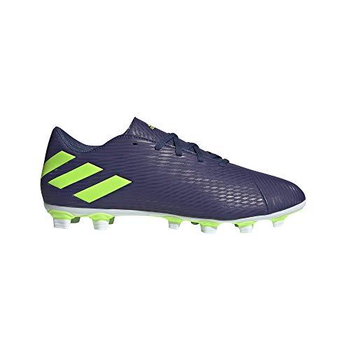Adidas Nemeziz Messi 19.4 FxG, Zapatillas Deportivas Fútbol Hombre, Morado (Tech Indigo/Signal Green/Glory Purple), 46 EU