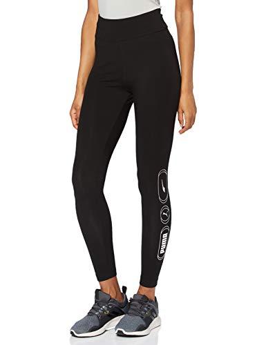 PUMA Rebel High Waist 7/8 Leggings Mallas Deporte, Mujer, Black-Untamed, M