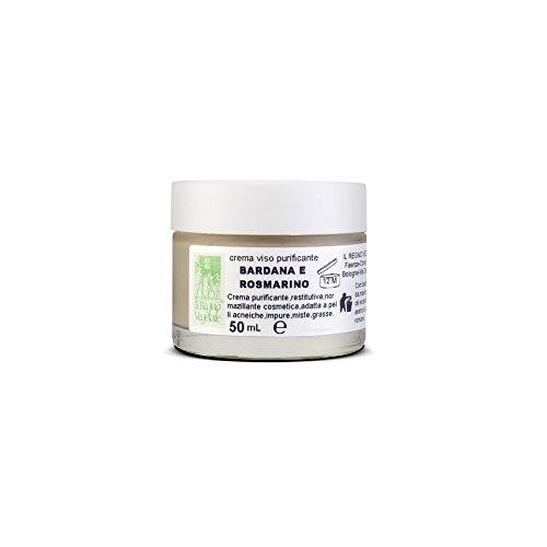 Crema facial con extractos vegetales para pieles mixtas, impurezas, aceitunas, bardana, romero, regenerador, purificante natural, sin crueldad, 50 ml