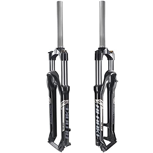BLOOKE Bike Suspension Fork,26,Travel 100mm,Rebound Adjust Straight Tube 28.6mm QR 9mm,Manually Adjustable Damping Front Forks for Mountain Bike