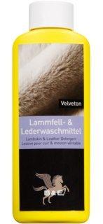 Velveton Lammfellwaschmittel-Lederwaschmittel   Lammfell- und Lederwaschmittel Velveton, 250 ml  Waschmittel Lammfell Wolle Leder rückfettend   Lambskin Leather Detergent