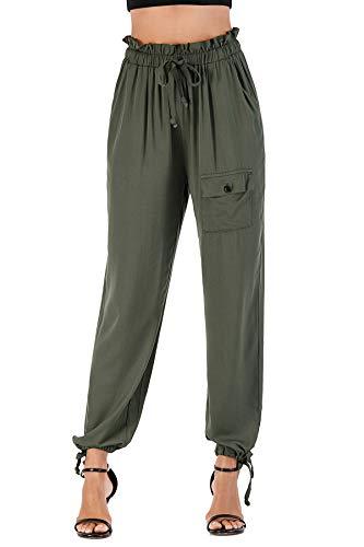 Wudodo Pantalones Deportivos Casuales para Mujer, Pantalones de Jogger de Cintura con cordón Pantalones de chándal Suaves y Ligeros Pantalones de chándal con Bolsillo