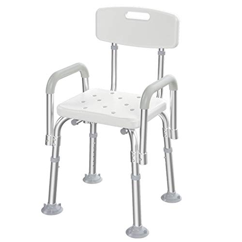 Buy Ffrzd Home Adjustable Bath Chair Shower Stool Stable Light Bath seat for The Elderly and Disable...