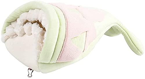 LSDRALOBBEB Nido di Uccello Casetta per Uccelli Fly Nest Winter Warm Cotton Nest Little Pet Nest Mini Big Mouth Fish Hamster Nest 809(Color:Green)