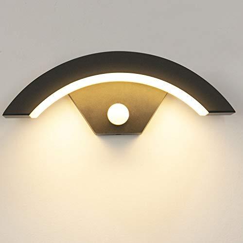 Applique da esterno a LED da 15W con sensore di movimento IP65 impermeabile Lampada da parete bianco caldo 3000K Luci da muro per esterno ed interno