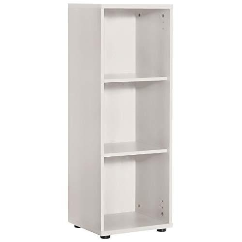Möbelpartner Aktenregal RIGA | HxBxT 1110 x 400 x 340 mm| lichtgrau | Aktenregal Schrank Regal Büroschrank Schiebetürenschrank
