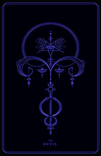 The Devil: Blue Tarot Card, Tarot Card Journal, Divination Journal, Magic Reading Journal, Witchcraft Supplies, Mystical Journal, Fortune Telling Journal, Tarot Journal