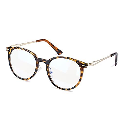 URAQT Blaulichtfilter Brille, Anti Blaulicht Computer Gaming Brille, Bluelight Glasses Anti Kopfschmerz Augenbelastung Vintage Brille für Damen und Herren