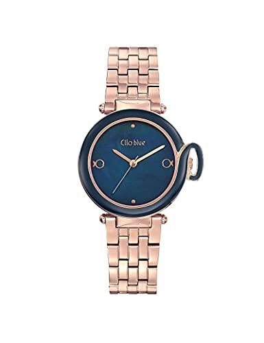 Reloj Clio Blue de acero para mujer, color dorado
