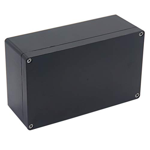 Raculety Project Box IP65 Waterproof Junction Box ABS Plastic Black Electrical Boxes DIY Electronic Project Case Power Enclosure 7.87 x4.72 x2.95 inch (200x120x75 mm)
