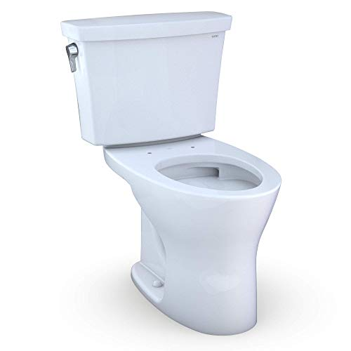 TOTO CST748CEMG#01 Drake Transitional Two Piece Toilet, Cotton White