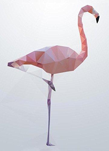 Juniqe Design Flamingo - Flamants Roses Impression sur Toile 20x30cm in Blanc & Rose - créé par Three of The Possessed