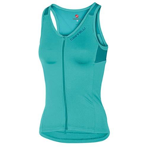 CASTELLI Solare Top Sujetador Deportivo Mujer, Mujer, Sujetador Deportivo, 4517064-468, Azul Turquesa/Azul Marino, S