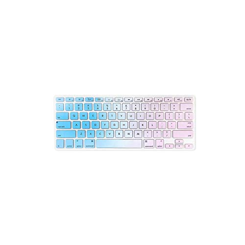 Keyboard Protective Film TPU Keyboard Cover Dustproof for MacBook Air 13.3 inch A1466/A1369 Colorful-Blue and Purple