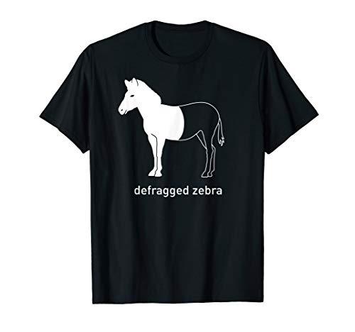 Defragged Zebra IT Admin Gamer Computer Informatik Geek T-Shirt
