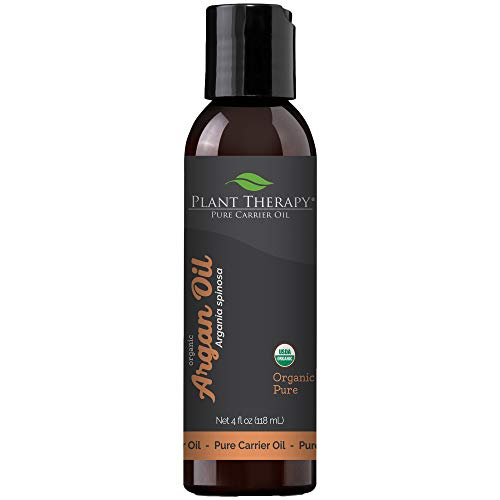 Plant Therapy Moroccan Argan Oil. 100% Pure and USDA Organic, First-Press, Virgin, For Face, Hair, Skin, Nails and Cuticles. 4 oz.