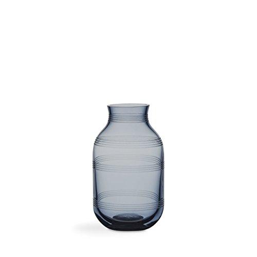 Design kähler grand-mère ggio Vase en verre Hauteur 14 cm bleu acier
