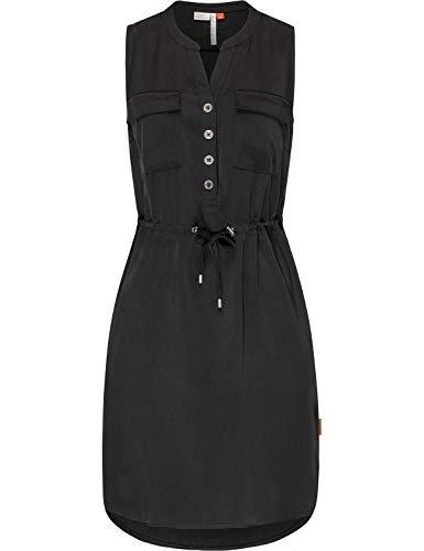 Ragwear Damen Kleid Dress Sommerkleid Blusenkleid Freizeitkleid Roisin Black Gr. XS