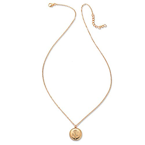 Dfgh Vintage Gold Metal Coin Layered Ketting For Women Lady Fashion Chain Long Choker Collar Pendant kettingen sieraden (Metal Color : FDY774)
