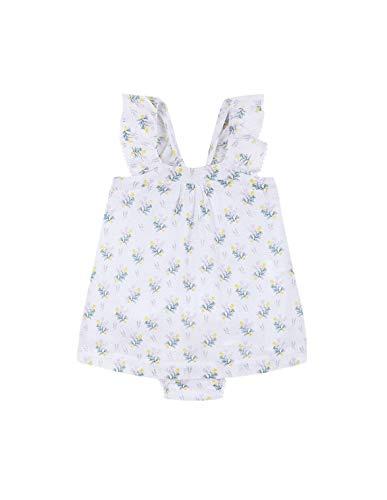 Gocco Vestido Flores, Morado (Lila BH), 80 (Tamaño del Fabricante:9/12) para Bebés